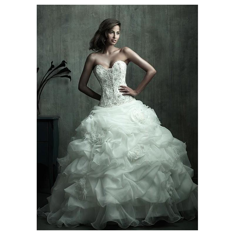 Delicate Organza Satin Ball Gown Sweetheart Neckline Dropped ...