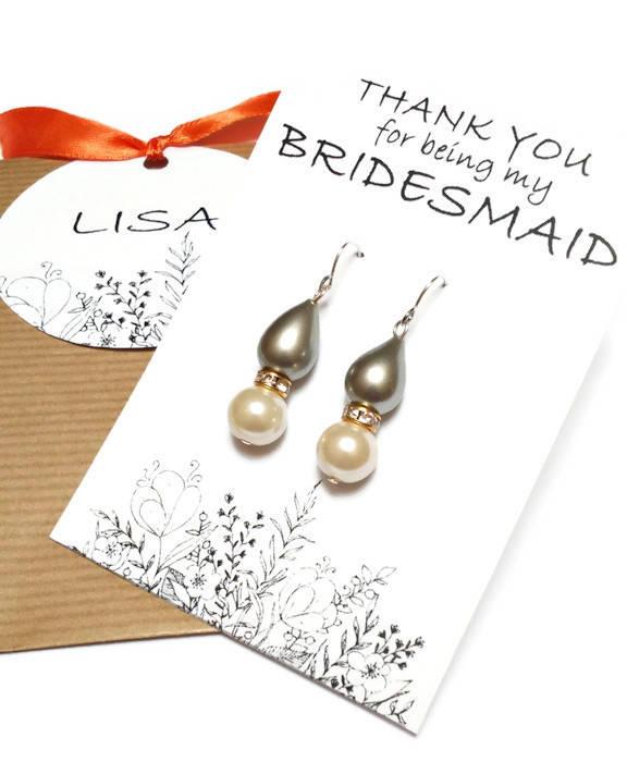 Свадьба - Pearl bridesmaid earrings. Teardrop pearl earrings. Wedding earrings. Bridal earrings. Bridesmaid gifts. Bridesmaid jewelry. Gift for her. - $7.65 EUR