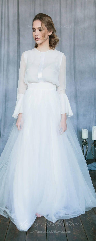 White Wedding Dress Vintage Custom Silk A Line Summer