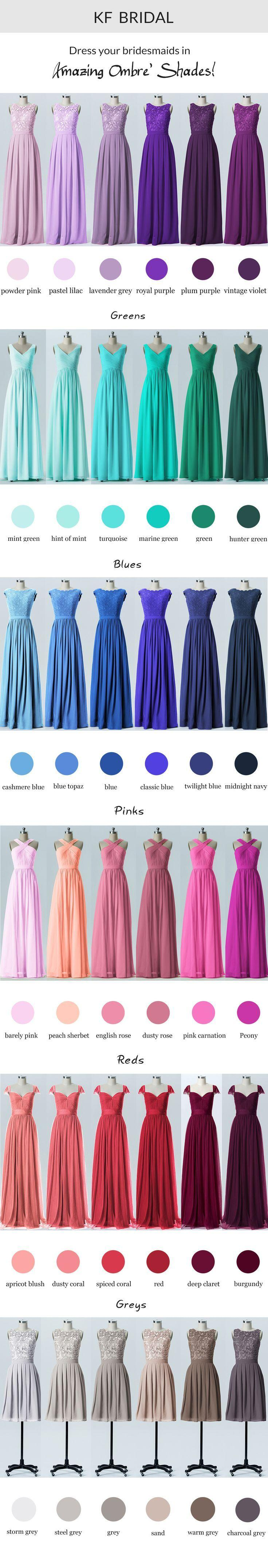 Wedding - Ombre Bridesmaid Dress