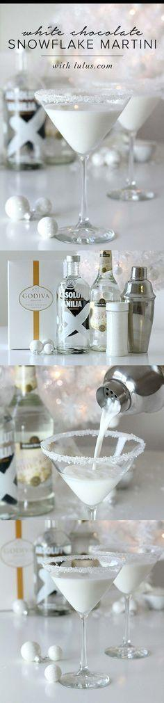 Wedding - White Chocolate Snowflake Martini