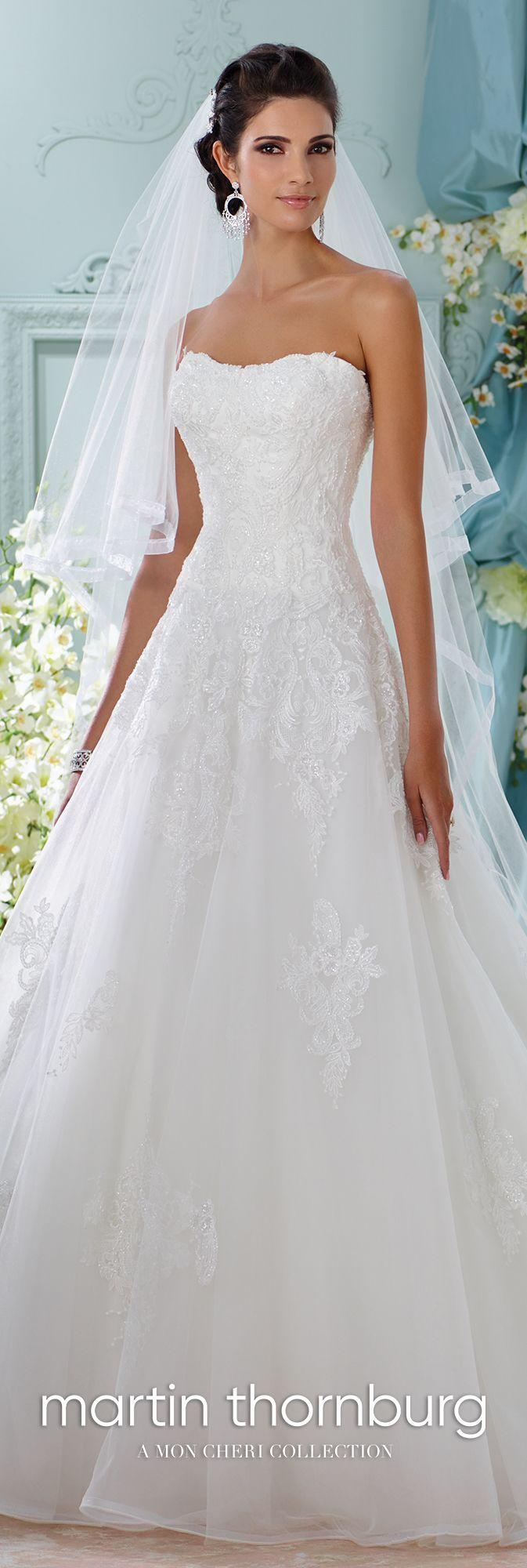 Wedding - Embroidered Strapless A-Line Wedding Dress- 116208 Alesea