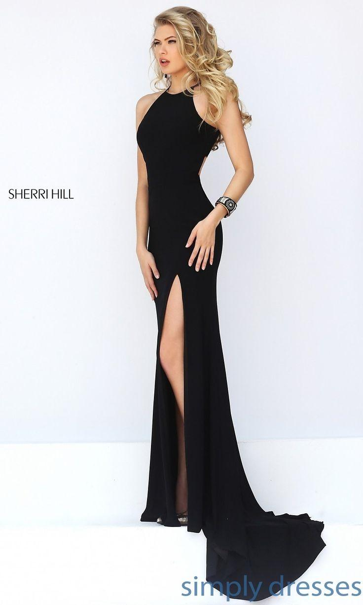 زفاف - SH-32340 - Sherri Hill Long Open-Back Sleeveless Dress