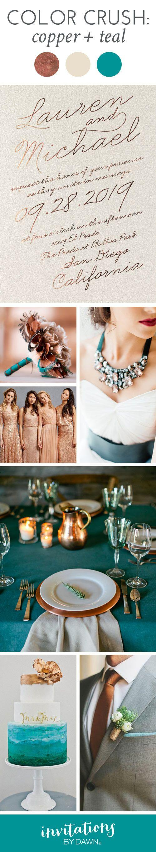 Wedding - Color Crush: Copper And Teal