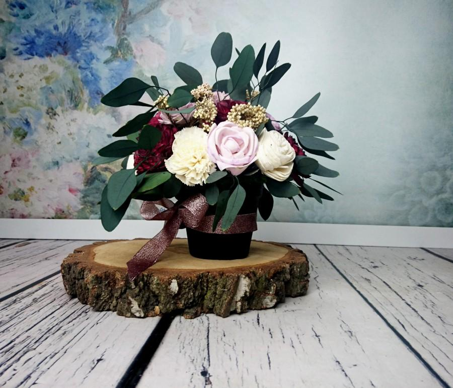 Wedding Floral Arrangement Table Centerpiece Sola Flowers Stabilized ...