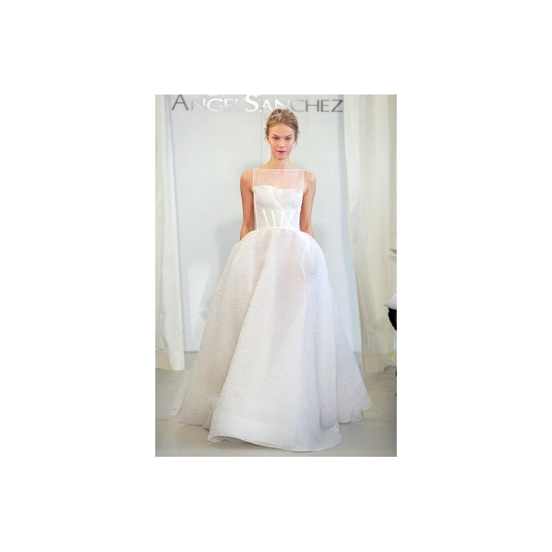 Свадьба - Angel Sanchez SP14 Dress 1 - Full Length Spring 2014 High-Neck Ivory Ball Gown Angel Sanchez - Rolierosie One Wedding Store