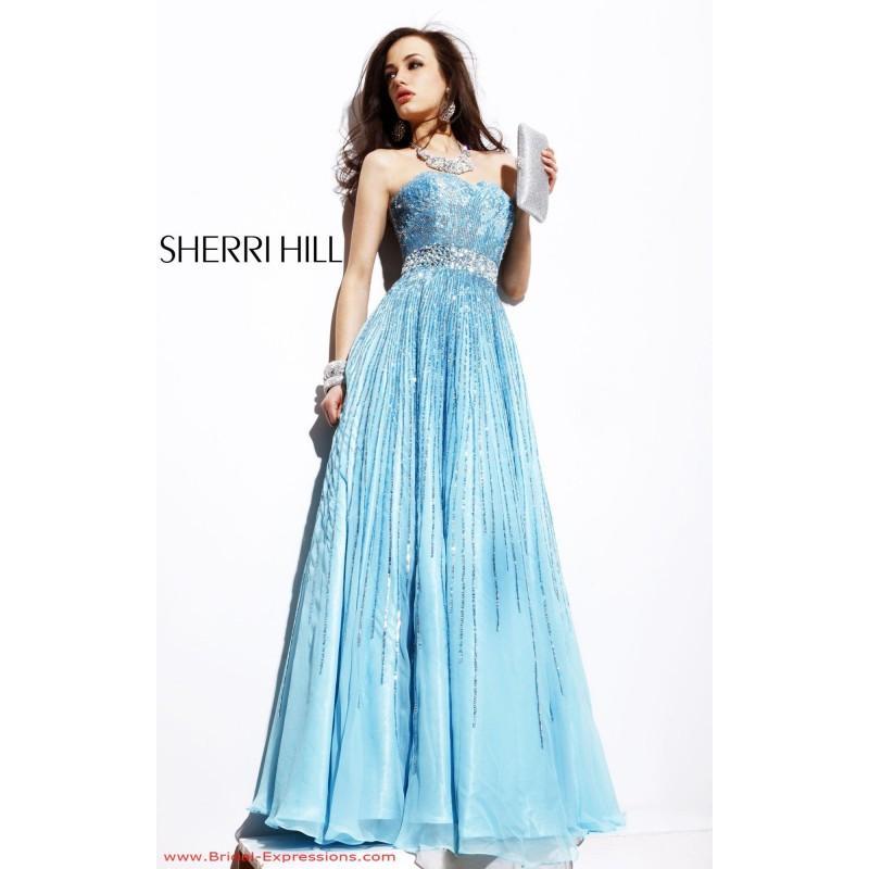 Wedding - Sherri Hill 8437 Sequin Ball Gown Prom Dress - Crazy Sale Bridal Dresses