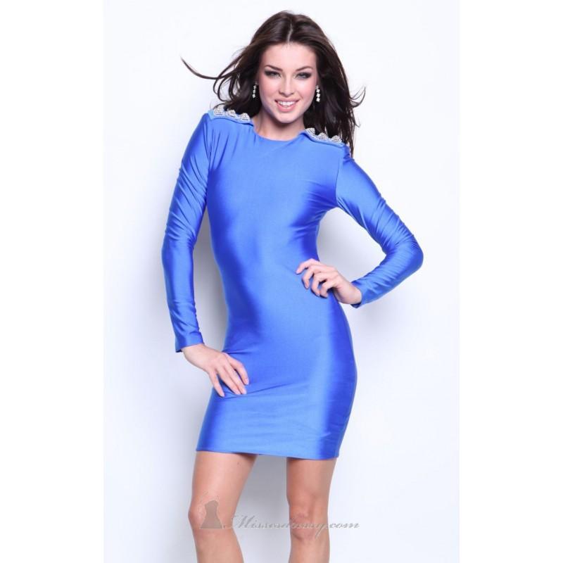 Свадьба - Long sleeve open back dress by Atria 8056 - Bonny Evening Dresses Online
