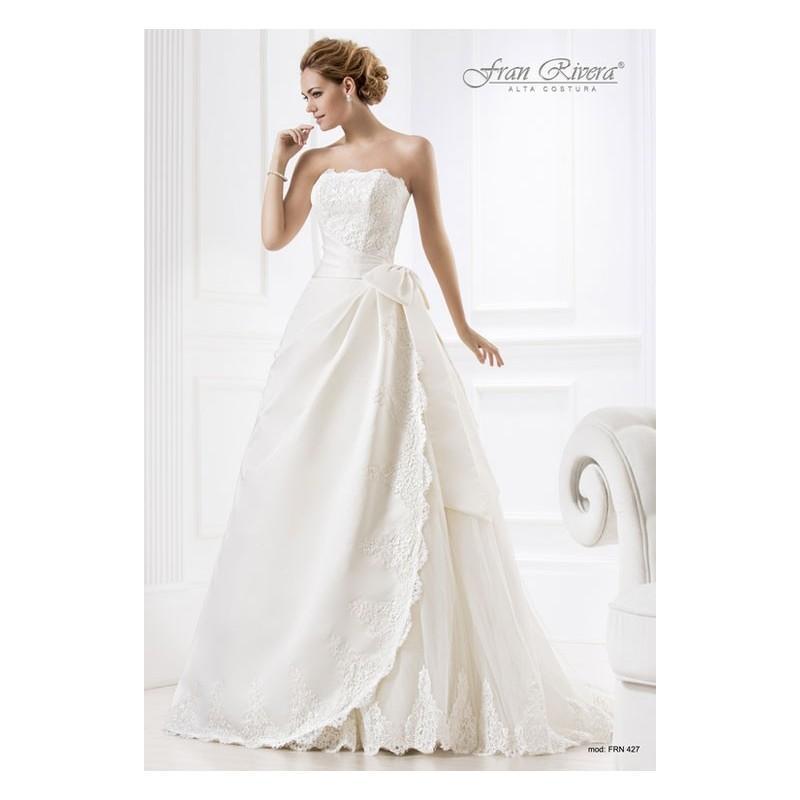 vestido de novia de fran rivera alta costura modelo frn427 - tienda