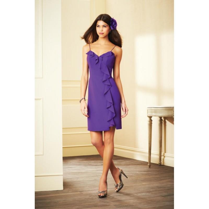 ebcd154d5965e Alfred Angelo 7294S Ruffle Neck Short Bridesmaid Dress - Brand Prom Dresses