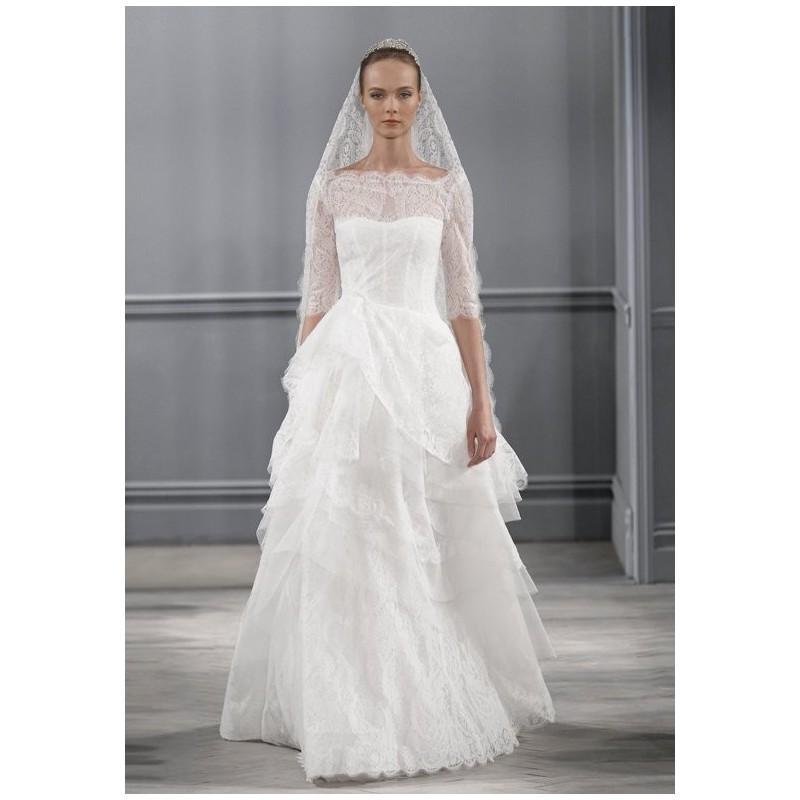 Wedding - Monique Lhuillier Monaco - Ball Gown Bateau Empire Floor Tulle - Formal Bridesmaid Dresses 2018