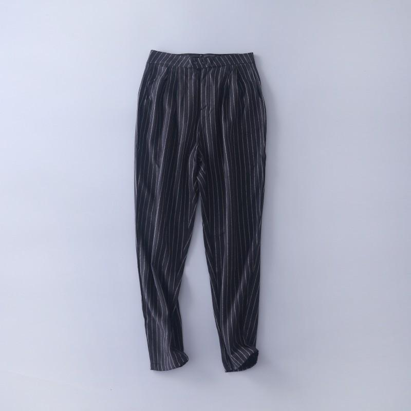 Mariage - Must-have Vogue Sweet Fresh Attractive Slimming Stripped Harem Pant Skinny Jean - Lafannie Fashion Shop