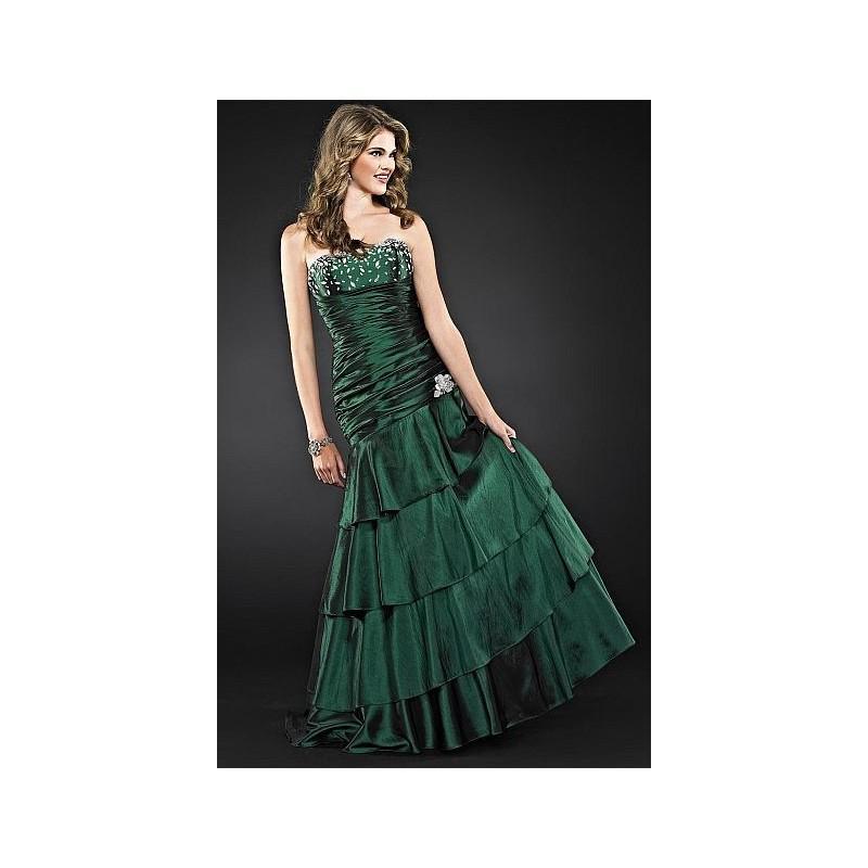 Свадьба - Cire by Landa Strapless Taffeta Prom Dress with Beading PE256 - Brand Prom Dresses