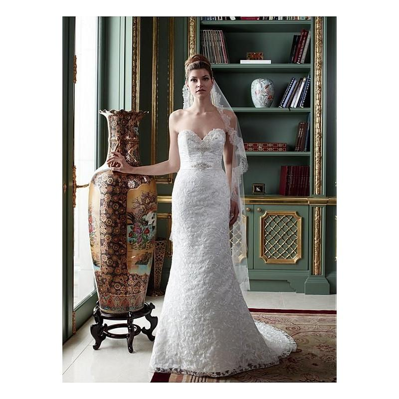زفاف - Charming All-over Lace Sheath Sweetheart Neckline Natural Waistline Wedding Dress - overpinks.com