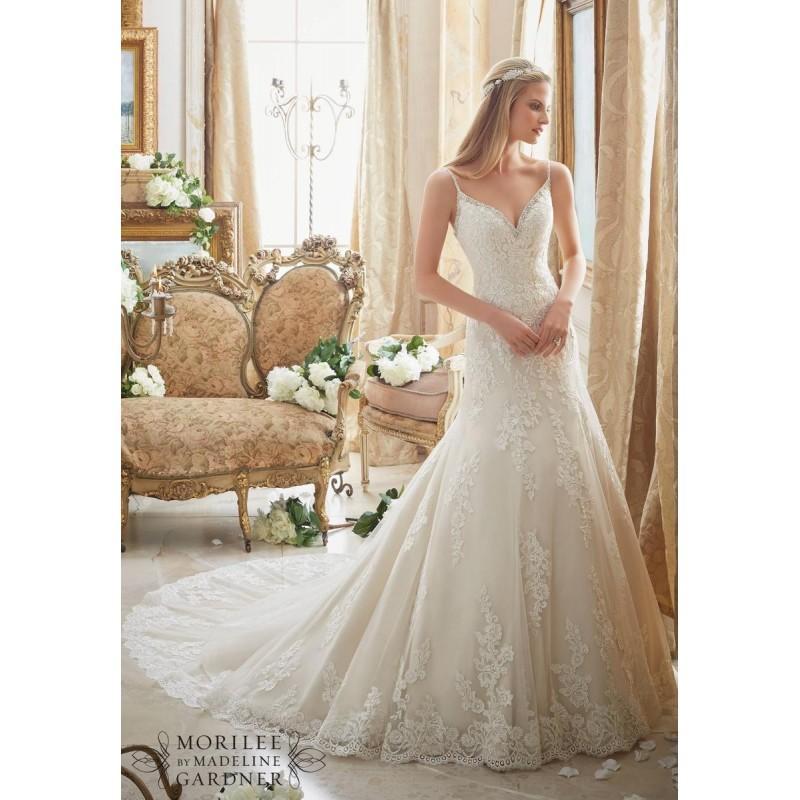 Wedding - White/Silver Mori Lee Bridal 2883 - Brand Wedding Store Online
