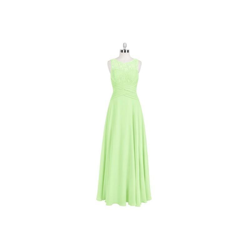Свадьба - Sage Azazie Marie - Floor Length Side Zip Scoop Chiffon And Lace - Simple Bridesmaid Dresses & Easy Wedding Dresses