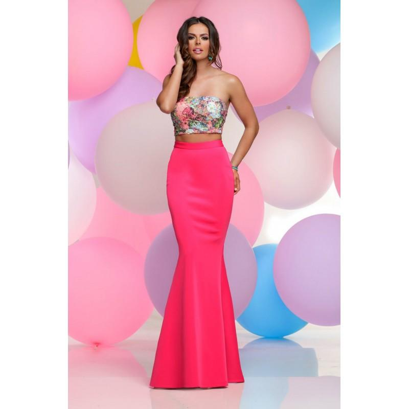 Wedding - Zoey Grey - Two-Piece Laced Straight Across Neck Dress 31039 - Designer Party Dress & Formal Gown