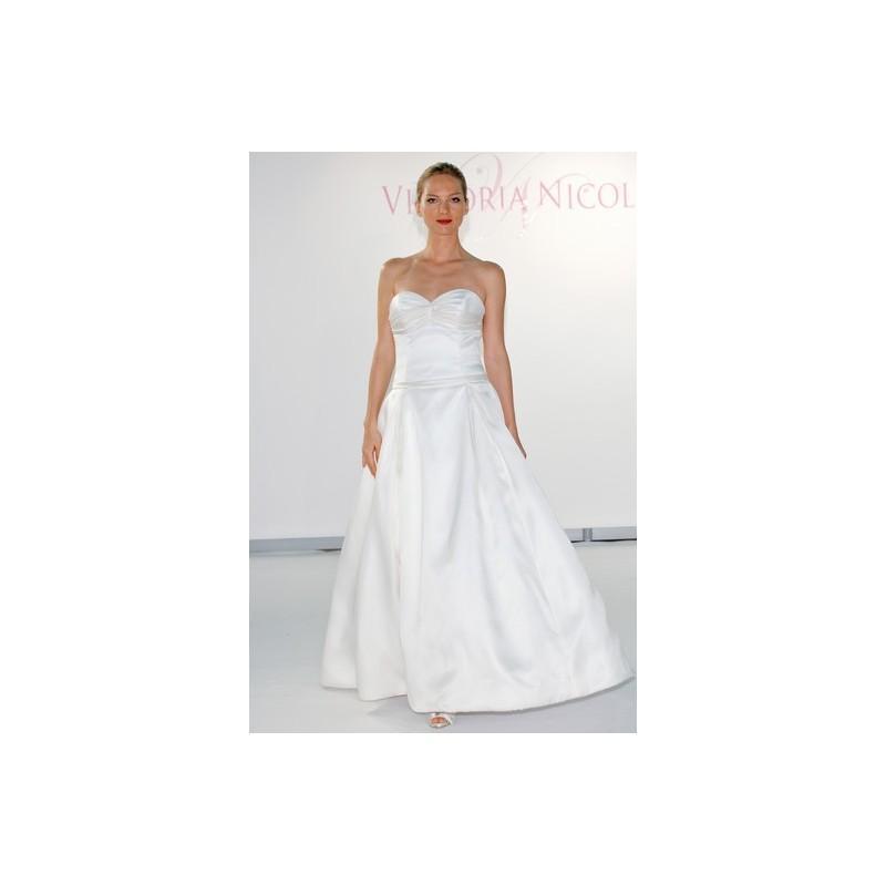 Wedding - Victoria Nicole FW12 Dress 5 - A-Line Sweetheart Fall 2012 Victoria Nicole White Full Length - Rolierosie One Wedding Store
