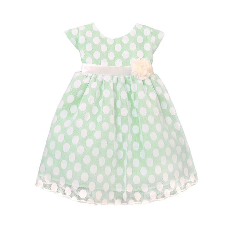 Mariage - Apple Green Polka Dot Mesh Dress Style: DSK509 - Charming Wedding Party Dresses