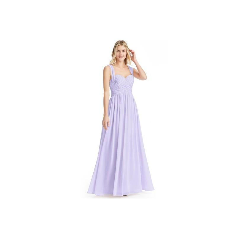 914b43c9916 Lilac Azazie Cameron - Floor Length Chiffon Sweetheart Back Zip Dress -  Simple Bridesmaid Dresses   Easy Wedding Dresses