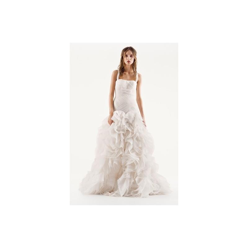 873c5020db1e White by Vera Wang Fall 2015 Wedding Dress VW351172 - Fall 2015 White by Vera  Wang Full Length Halter Ivory Fit and Flare - Rolierosie One Wedding Store