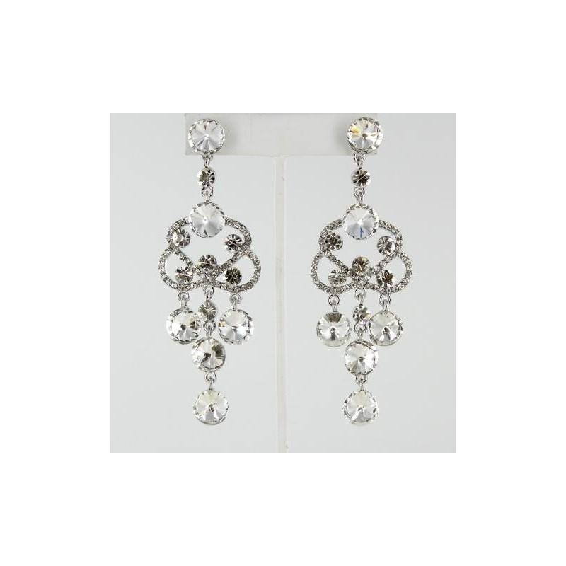 Wedding - Helens Heart Earrings JE-4601-7-S-Clear Helen's Heart Earrings - Rich Your Wedding Day