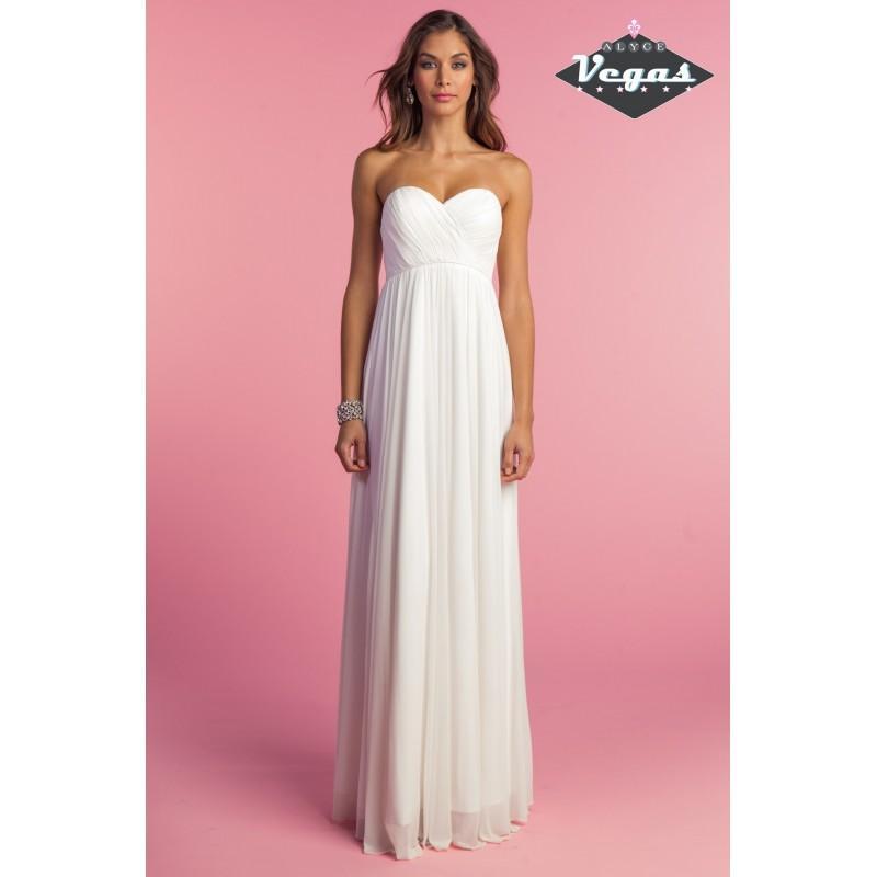 Wedding - Alyce 7003 Empire Waist Strapless Mesh Jersey Gown - 2018 Spring Trends Dresses