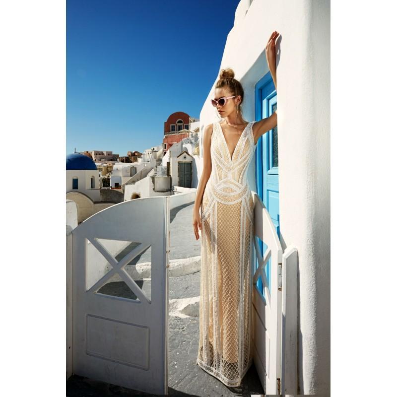 زفاف - Eva Lendel 2017 Antonia Beading Lace Floor-Length Vogue Nude V-Neck Fit & Flare Sleeveless Dress For Bride - Customize Your Prom Dress