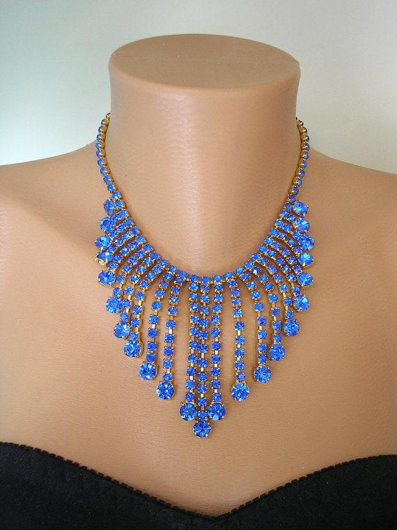 Свадьба - Cobalt Blue Necklace