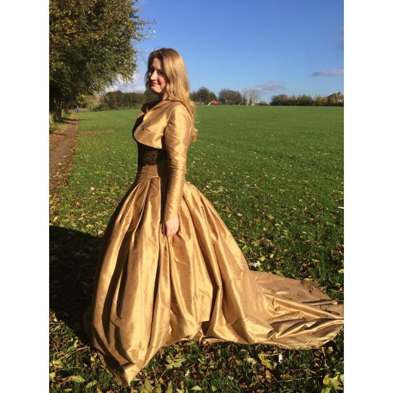 Gold Steampunk Wedding Dress, Gold Ball Gown, Wedding Dress And ...