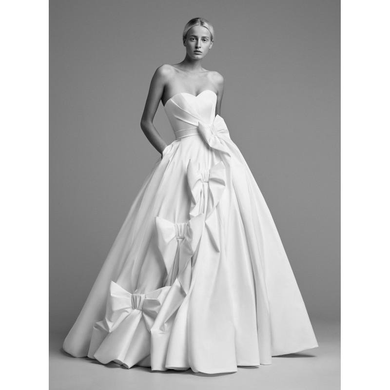aeb52598540e Viktor&Rolf Fall/Winter 2018 Chapel Train Simple Ivory Sweetheart Ball Gown  Sleeveless Bow Charmeuse Dress For Bride - Formal Day Dresses