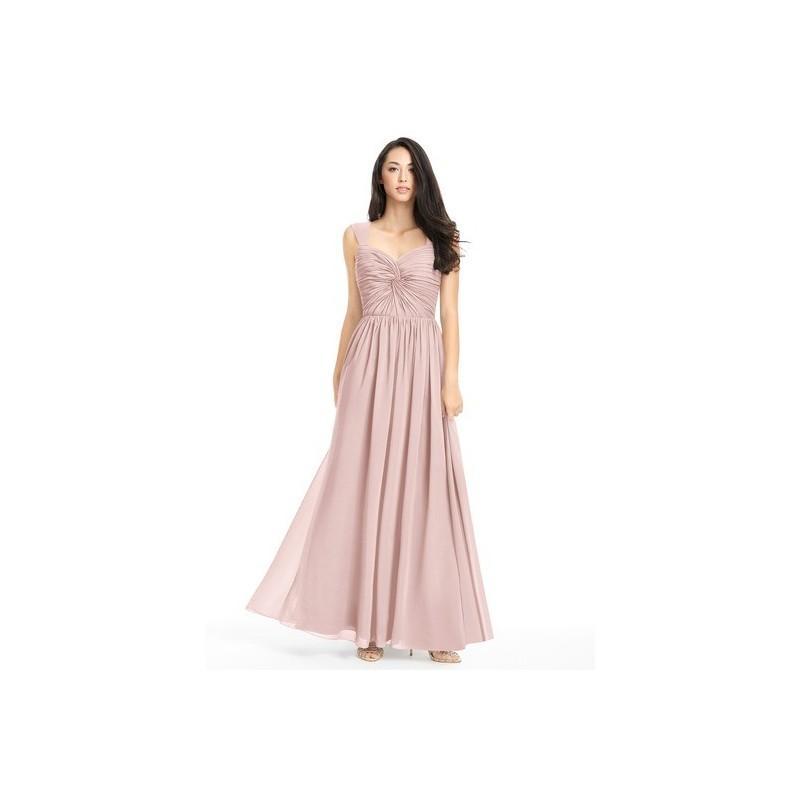 Dusty_rose Azazie Amya - Floor Length Chiffon Sweetheart Scoop Dress ...