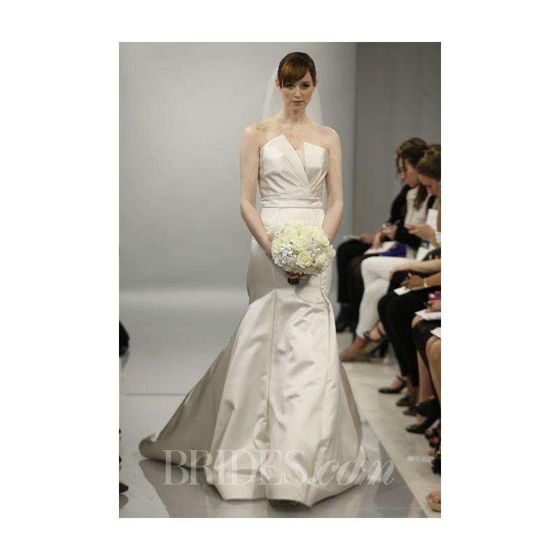 Theia - Spring 2014 - Madison Satin Mermaid Wedding Dress With ...