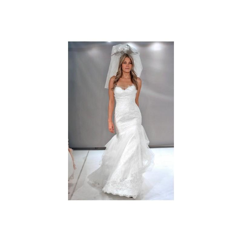 زفاف - Watters FW12 Dress 10 - Fit and Flare Fall 2012 Full Length Sweetheart White Watters - Rolierosie One Wedding Store