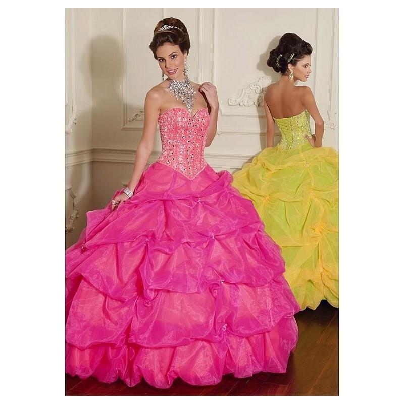 Свадьба - Stunning Satin & Organza Sweetheart Neckline Floor-length Ball Gown Prom Dress - overpinks.com