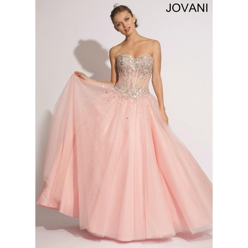 Jovani 88617 Lace Up Ball Gown - 2018 Spring Trends Dresses #2814811 ...