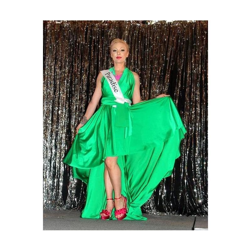High low waterfall infinity convertible wrap dress for Waterfall design dress