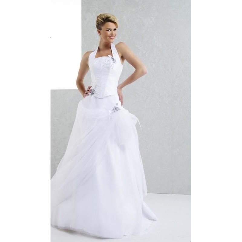 Pia Benelli Amazone Blanc Superbes Robes De Mariée Pas