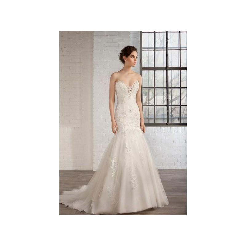 vestido de novia de cosmobella modelo 7763 - 2016 sirena palabra de