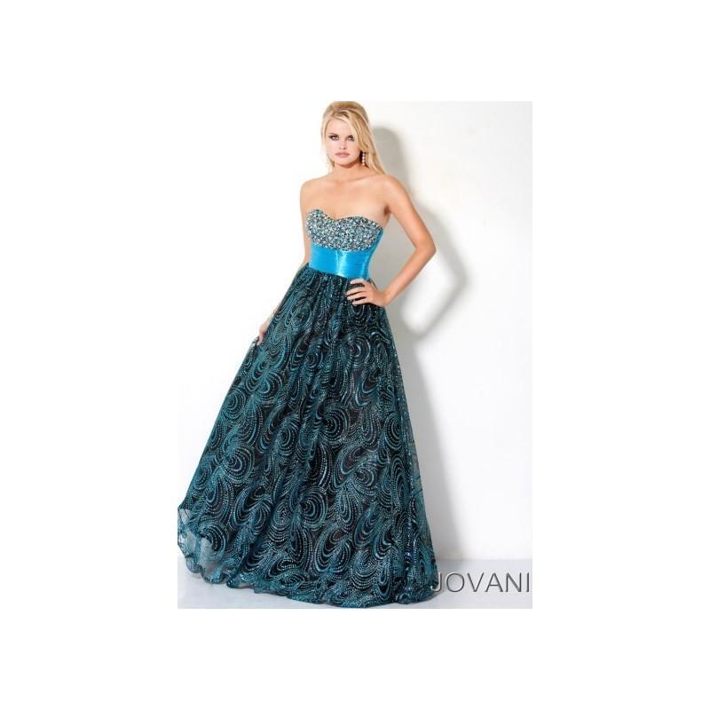 Mariage - Jovani Long Swirl Ball Gown Style Prom Dress B459 - Brand Prom Dresses