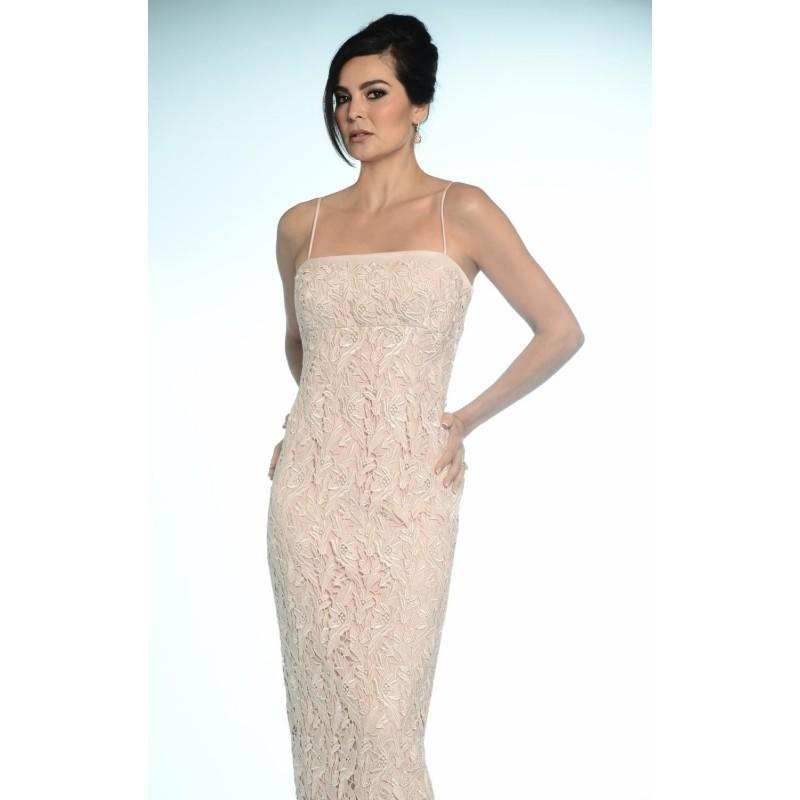 9f9c670c00fa Soft White Laced Slim Gown by Daymor Couture - Color Your Classy Wardrobe
