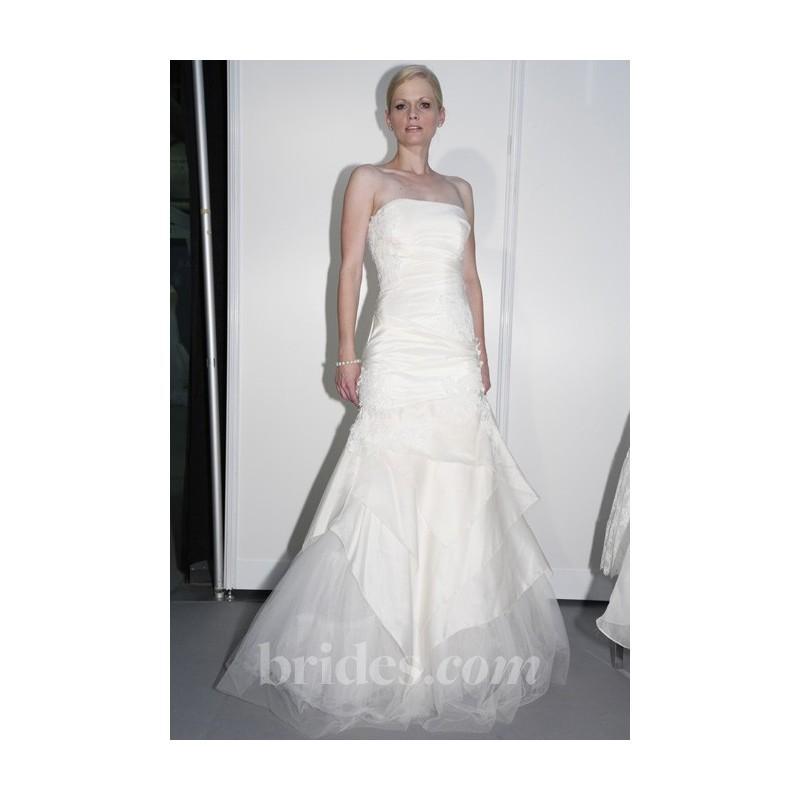 Wedding - Elizabeth St. John Couture - 2013 - Aritza Strapless Silk Taffeta A-Line Wedding Dress with Asymmetrical Pleating - Stunning Cheap Wedding Dresses
