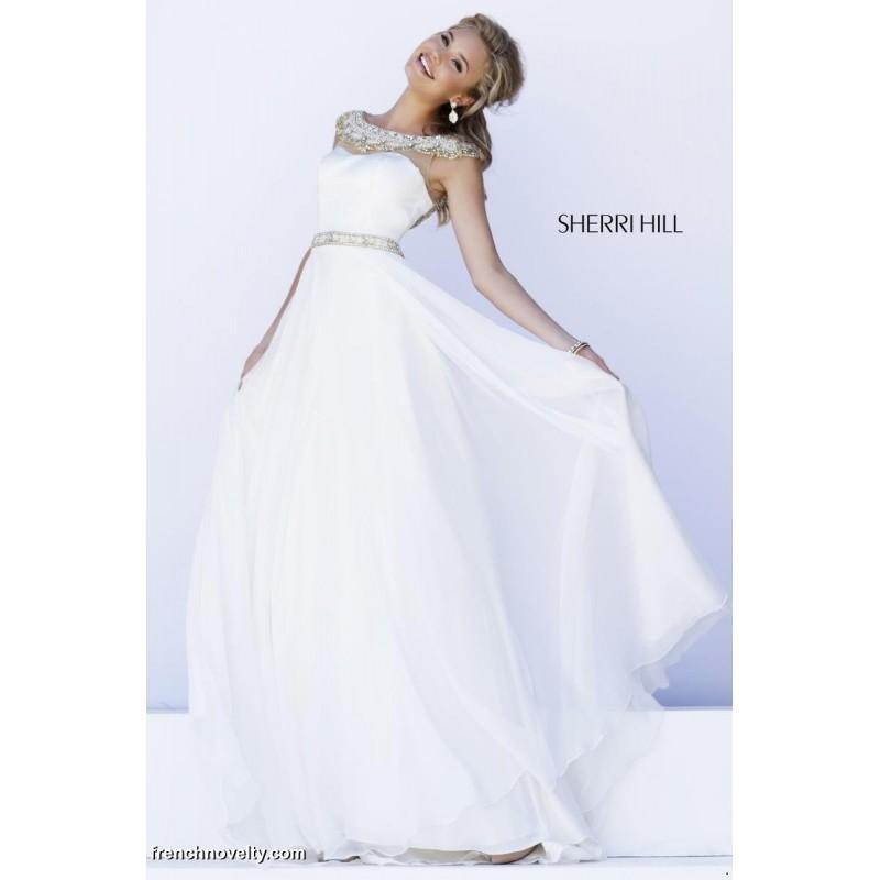 Wedding - Sherri Hill 32220 Cap Sleeve Sheer Gown - Brand Prom Dresses