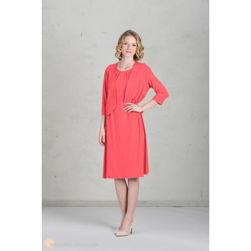 Wedding - Jacket for Bridesmaids - Coral - Hand-made Beautiful Dresses