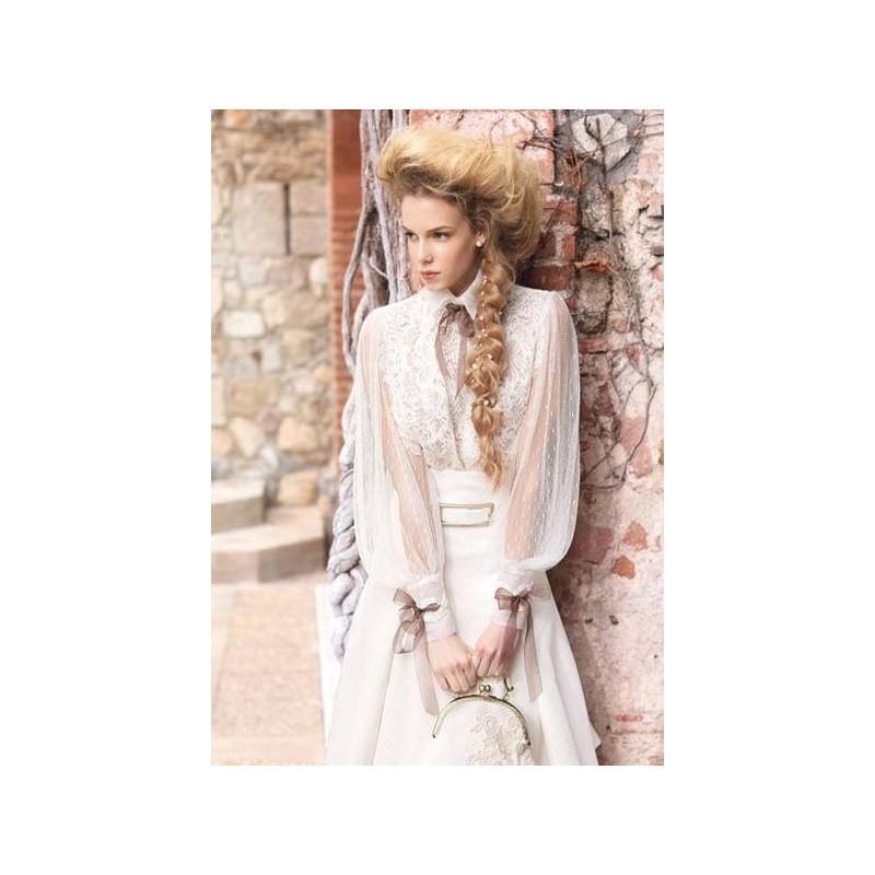 Wedding - Vestido de novia de Inmaculada Garcia Modelo 5455 - 2015 Evasé Con mangas Vestido - Tienda nupcial con estilo del cordón
