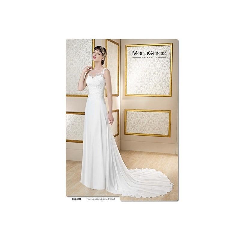 Wedding - Vestido de novia de Manu García Modelo MG0821 frente - 2017 Sirena Tirantes Vestido - Tienda nupcial con estilo del cordón