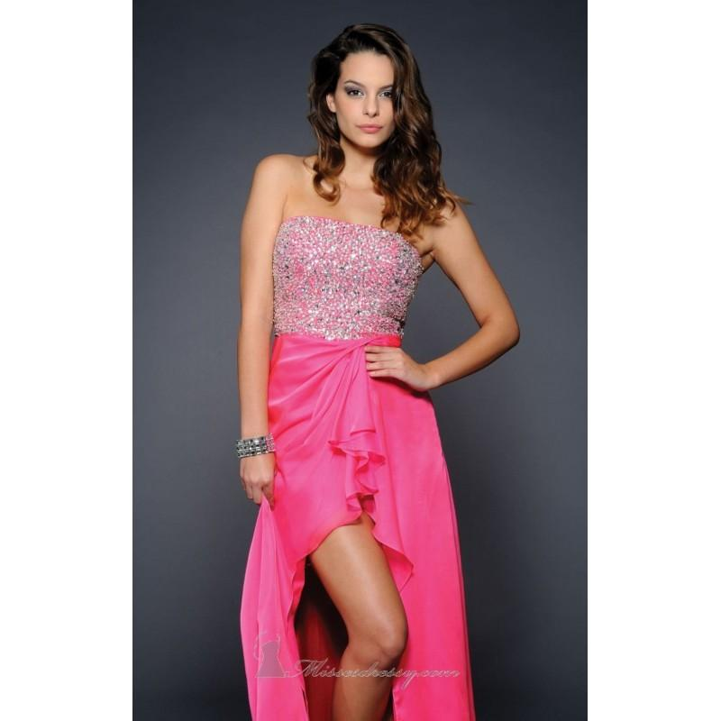 Свадьба - Hot Pink Chiffon Hi Lo Dress by Lara Designs - Color Your Classy Wardrobe
