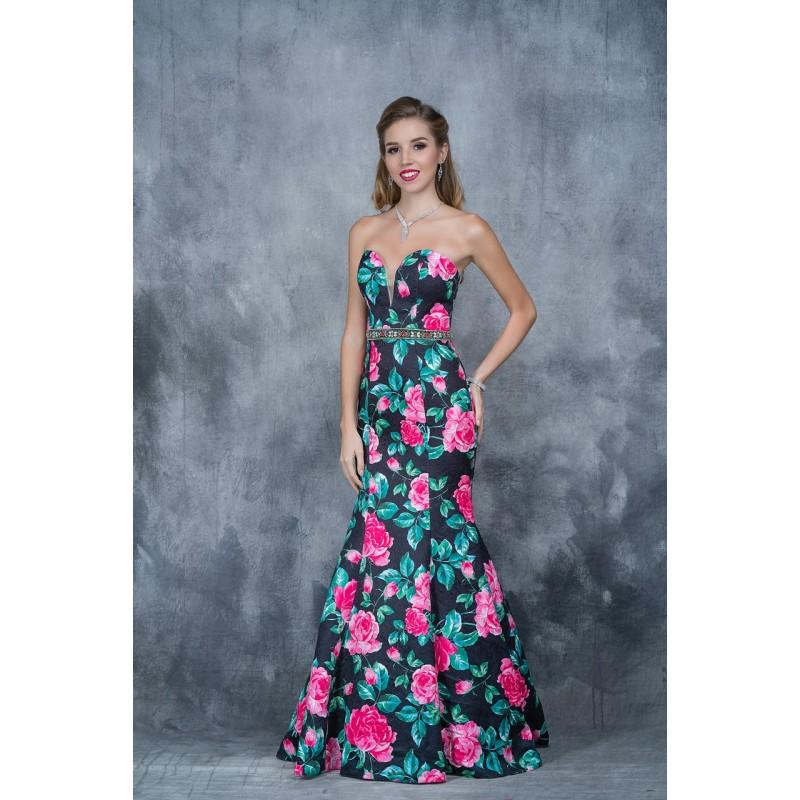 Wedding - Nina Canacci - 1362 Floral Deep Sweetheart Mermaid Dress - Designer Party Dress & Formal Gown