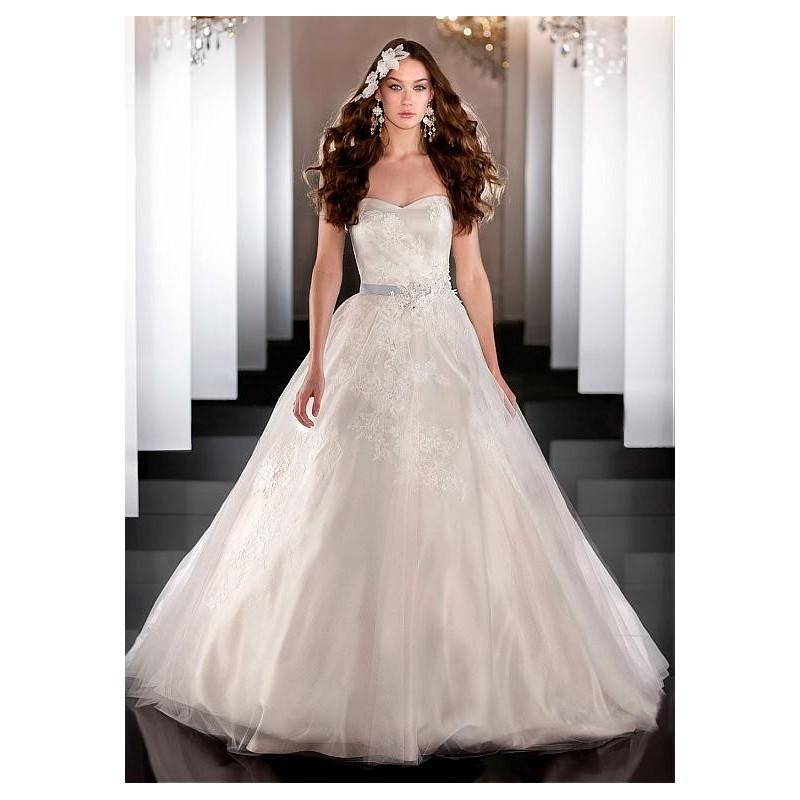 Wedding - Gorgeous Tulle & Satin A-line Sweetheart Neckline Wedding Dress With Lace Appliques & Beadings - overpinks.com