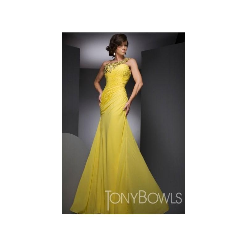Wedding - Neon One Shoulder Mermaid Tony Bowls Evenings 21001 - Brand Prom Dresses